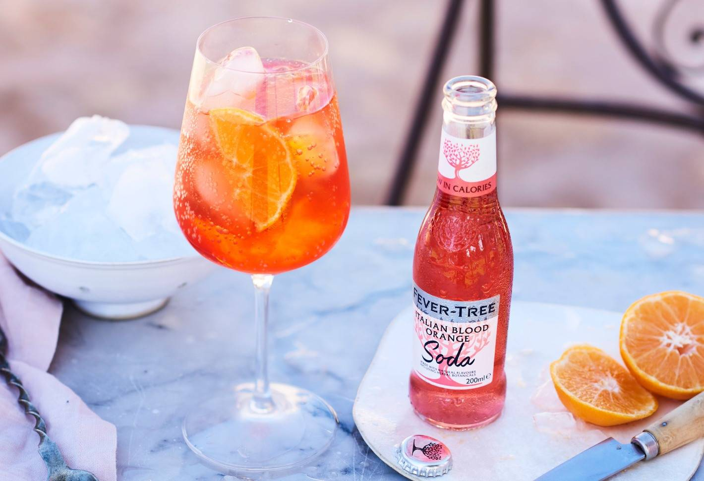 HOW TO MAKE THE ULTIMATE VODKA BLOOD ORANGE SPRITZ