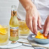 Ginger Ale drink being prepared