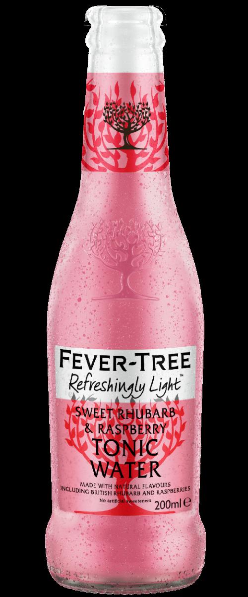 Sweet Rhubarb & Raspberry Tonic Water