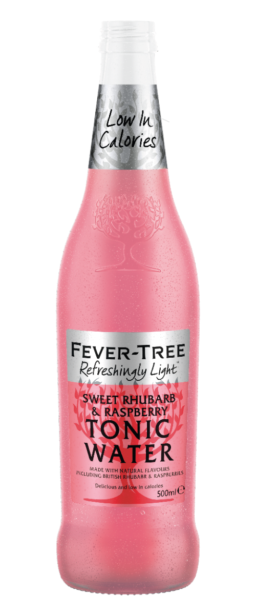 Sweet Rhubarb & Raspberry Tonic Water