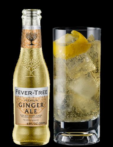 Ginger Ale Flasche mit Glas
