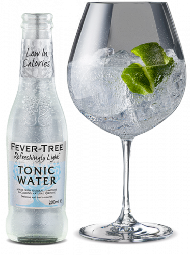 Refreshingly Light Tonic Water and Cocktail