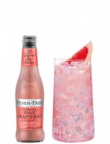 Sparkling Pink Grapefruit  with Cocktail