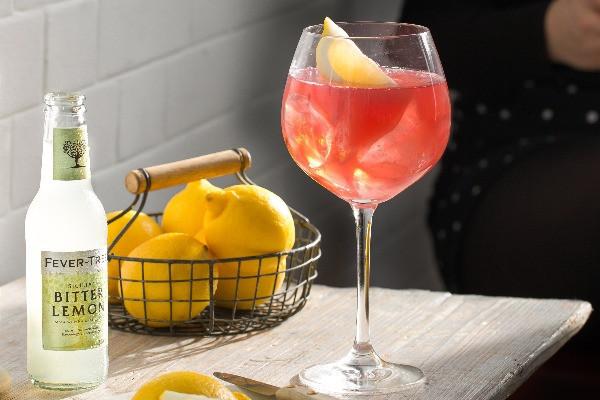 Sloe Gin und Bitter Lemon